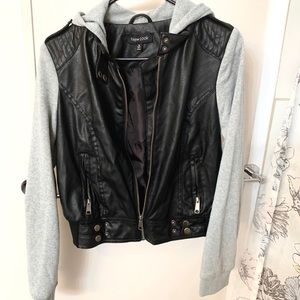 New Look Leather hooded jacket.